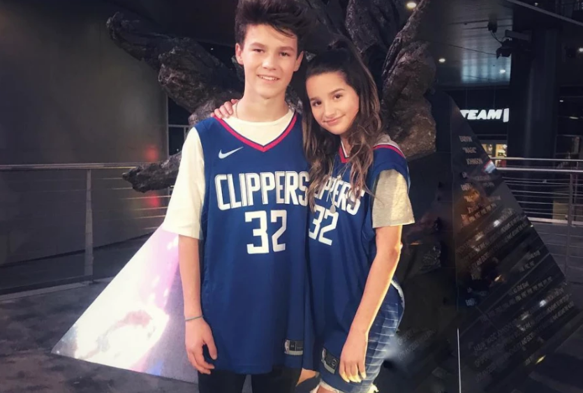 Annie Leblanc with Hayden Summerall